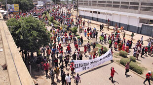 Rassemblement de Togolais pour réclamer l'alternance politique, à Lomé, au Togo, le 5 octobre 2017. (Photo d'illustration)