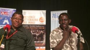 Ousmane Diarra et Ibrahima Aya à Bamako (février 2018).