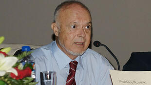 Nicolas Vernicos. Photographie de septembre 2009, prise à Préveza, en Grèce, lors du 2e Symposium international sur l'histoire et la culture de Préveza.