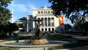Le centre ville de Riga, capitale de la Lettonie.