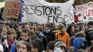 6° dia de mobilização na França para protestar contra a reforma da previdência social.