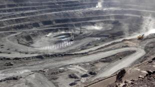 中國內蒙古一處稀土礦