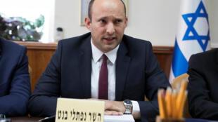Министр по делам диаспоры Нафтали Беннет на заседании кабинета министров Израиля 27 января 2018 г.