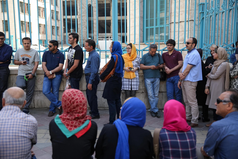 یک حوزه رأیگیری در تهران. جمعه  ۲۹ اردیبهشت/ ١٩ مه ٢٠۱٧