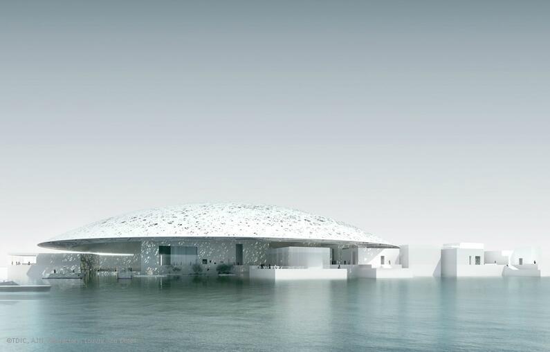 """موزه """"لوور"""" ابوظبی قرار است در سال ٢٠۱٧ افتتاح شود."""