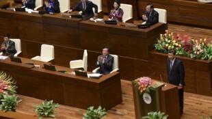 Ông Tập Cận Bình phát biểu hơn 20 phút trước Quốc hội Việt Nam ngày 06/11/2015.