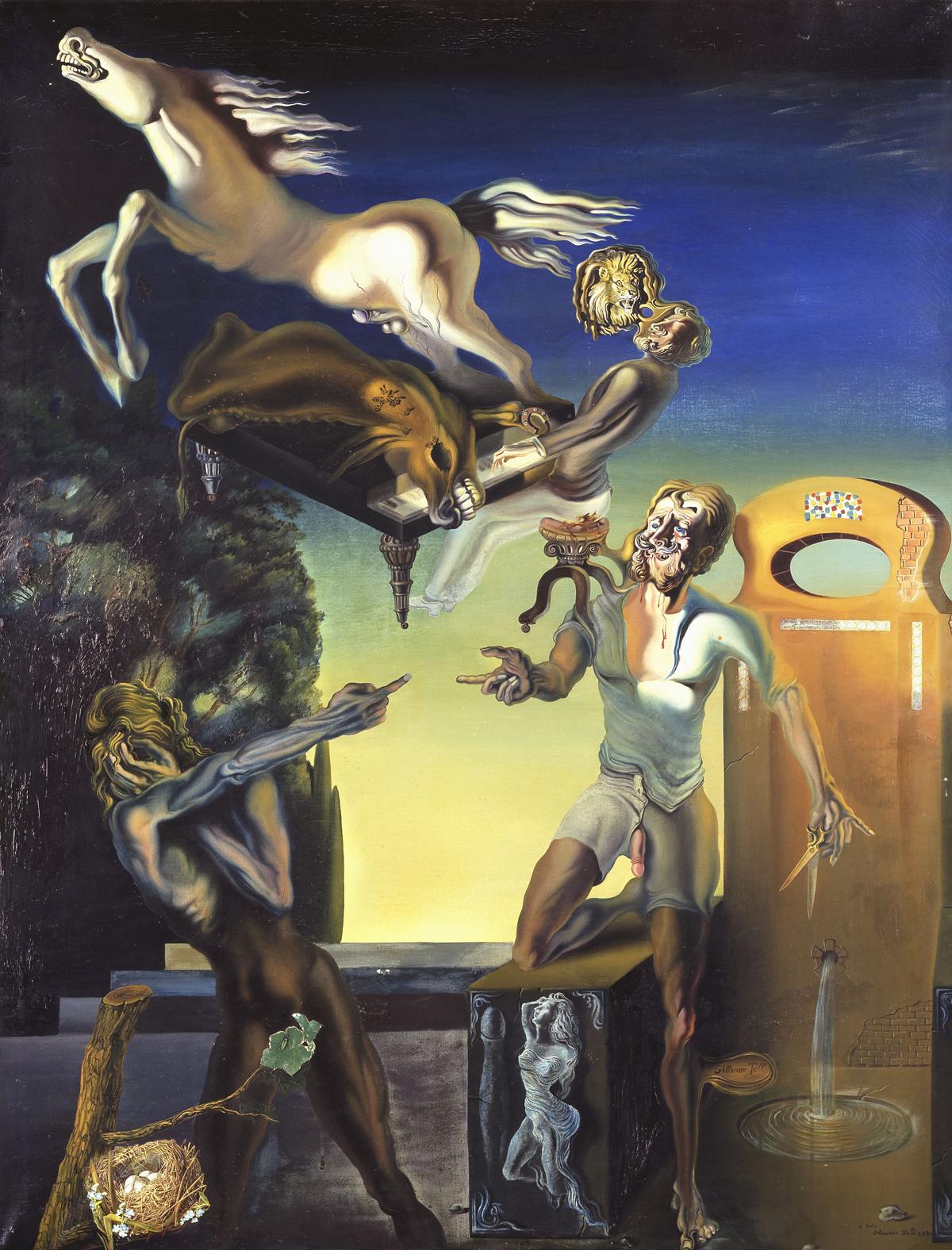 Tác phẩm William Tell do Dali vẽ vào năm 1930 (© Salvador Dali, Fundació Dali, ADAGP Paris 2012)