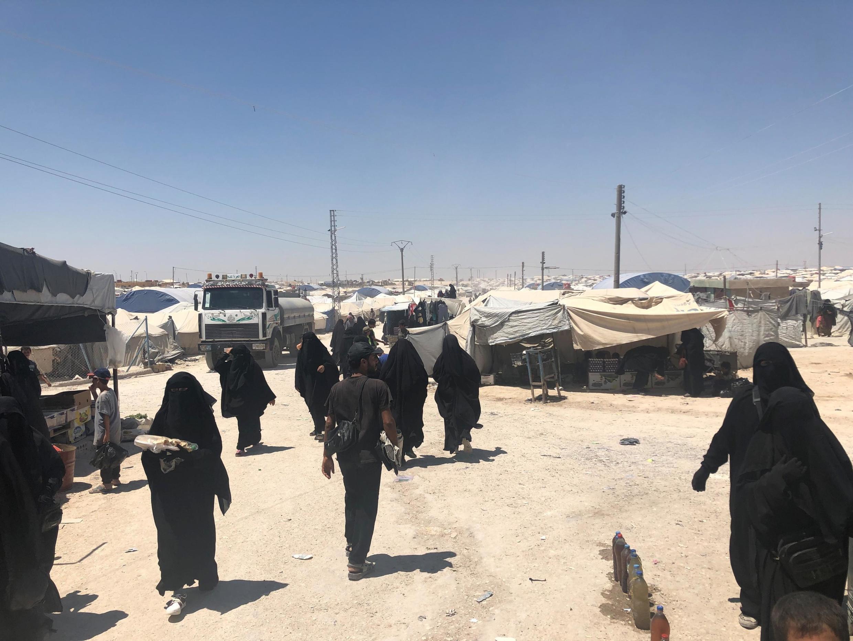 Dans le camp de Roj, en Syrie, juillet 2019.