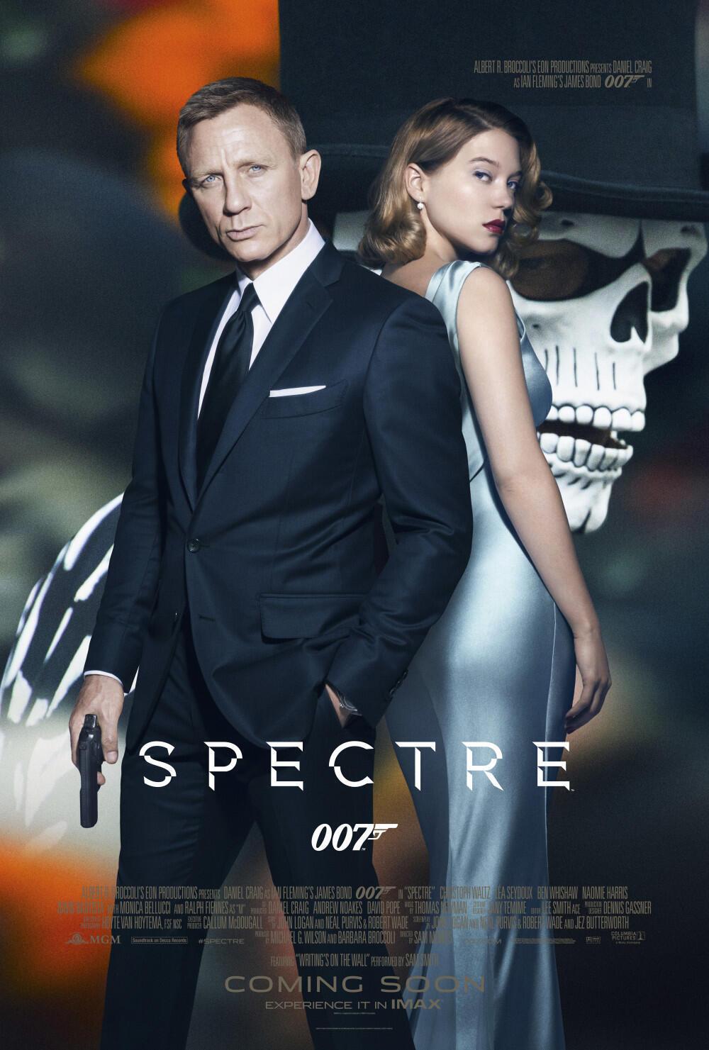 Imagem de Daniel Craig e  Léa Seydoux , protagonistas de 007 contra Spectre monopolizou a mídia.
