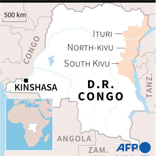 刚果金地图