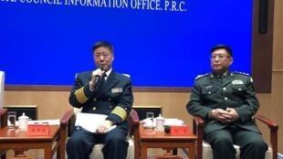图为中国时报登解放军中将何雷疑似2019年1月9日国新办新闻发布会照片