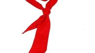 圖為中國網絡紅領巾銷售圖案