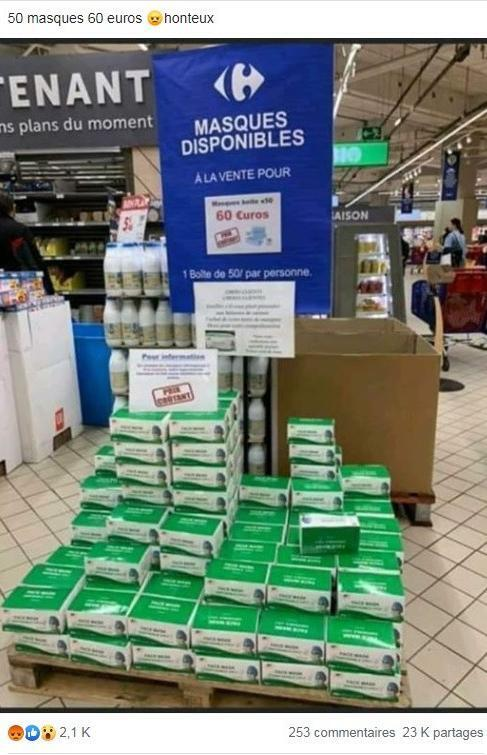 Cette photo, partagée plusieurs milliers de fois sur Facebook, a été prise dans un supermarché monégasque
