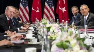 Estados Unidos y Turquía mantuvieron una reunión de trabajo al margen del G20, el 4 de septiembre de 2016 en China.