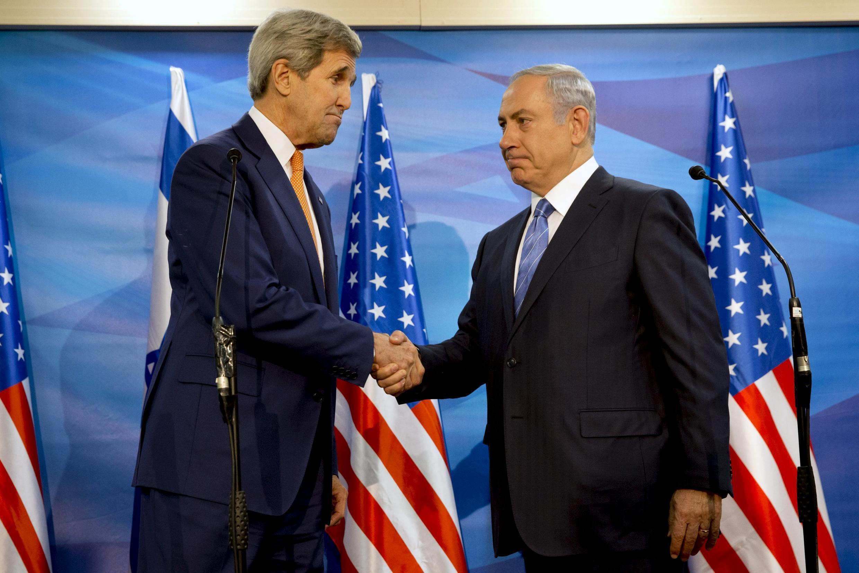 Le Premier ministre israélien a rencontré John Kerry, à Jérusalem, le 24 novembre 2015.