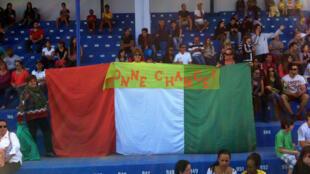 Supporters de la Côte d'Ivoire à Aguas de Lindoia au Brésil. Coupe du monde 2014.