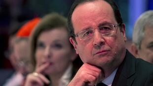 François Hollande and his now ex-companion Valérie Trierweiler, March 2013