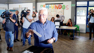 Portuguese Prime Minister Antonio Costa voting in Lisbon, 6 October 2019.