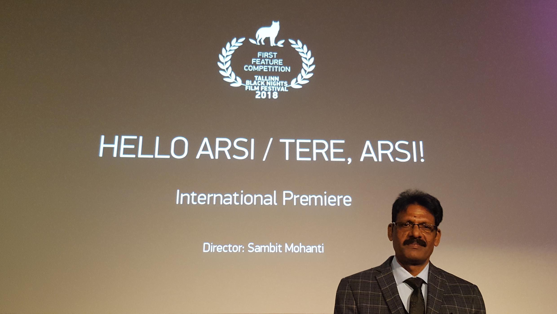 Ajaya Routray, producteur indien du film  «Hello Arsi», en compétition au Festival du film «Nuits noires» de Tallinn (PÖFF) 2018, en Estonie.