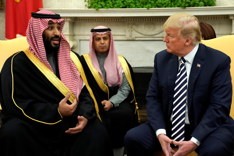 دونالد ترامپ رئیس جمهوری آمریکا و محمد بن سلمان ولیعهد عربستان در کاخ سفید