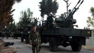 L'armée syrienne et ses alliés iraniens et libanais préparent une importante offensive contre les rebelles, le 14 octobre 2015.