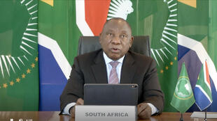 South African President Cyril Ramaphosa, pictured here in May 2020, has come under fire for his handling of the pandemic and delays in the rollout of vaccines