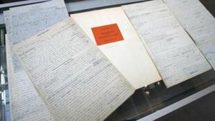 مجموعهای از دستنویسهای آندره برتون که پیشتر در سال ۲۰۰۸ در پاریس حراج شده بود
