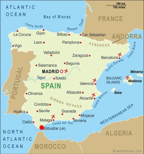 """""""جبل طارق""""  به اسپانیایی: Gibraltar  ،نام شهری است کوچک در جنوب اسپانیا و به قیمومیت انگلستان"""