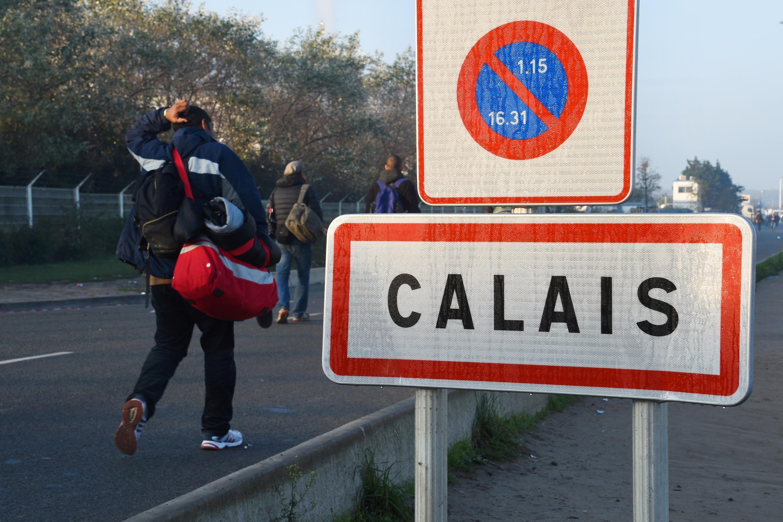 Sansanin 'yan gudun hijra da ke Calais na kasar Faransa.