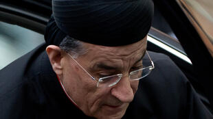 Le patriarche maronite d'Antioche et de tout l'Orient Bechara Boutros Raï, à son arrivée à la Cité du Vatican le 11 mars 2013 pour participer au conclave qui élit le pape François.