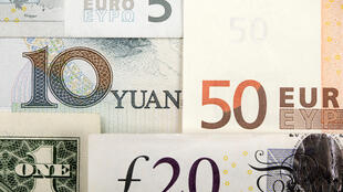 Yuan, US Dollar, Euro, British Pound.