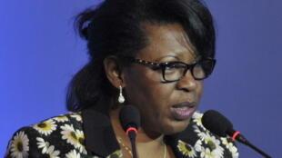 Claudine Munari, opposante gabonais, ici en 2013.