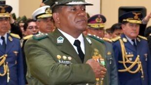 Abel de la Barra asume como comandante general de la Policía de Bolivia, en La Paz, este 13 de febrero de 2017.