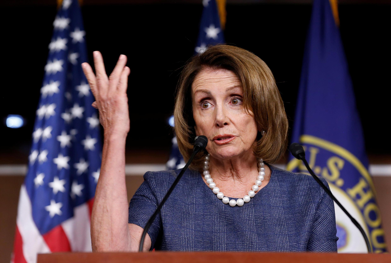 Chính trị gia đảng Dân Chủ Nancy Pelosi, đối thủ của tổng thống Trump tại Hạ Viện Mỹ, Washington, ngày 7/9/2017.