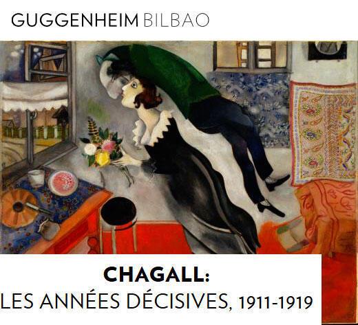 A exposição Chagall acontece no museu de Gugeenheim em Bilbao de 01/06/18 até 02/09/18