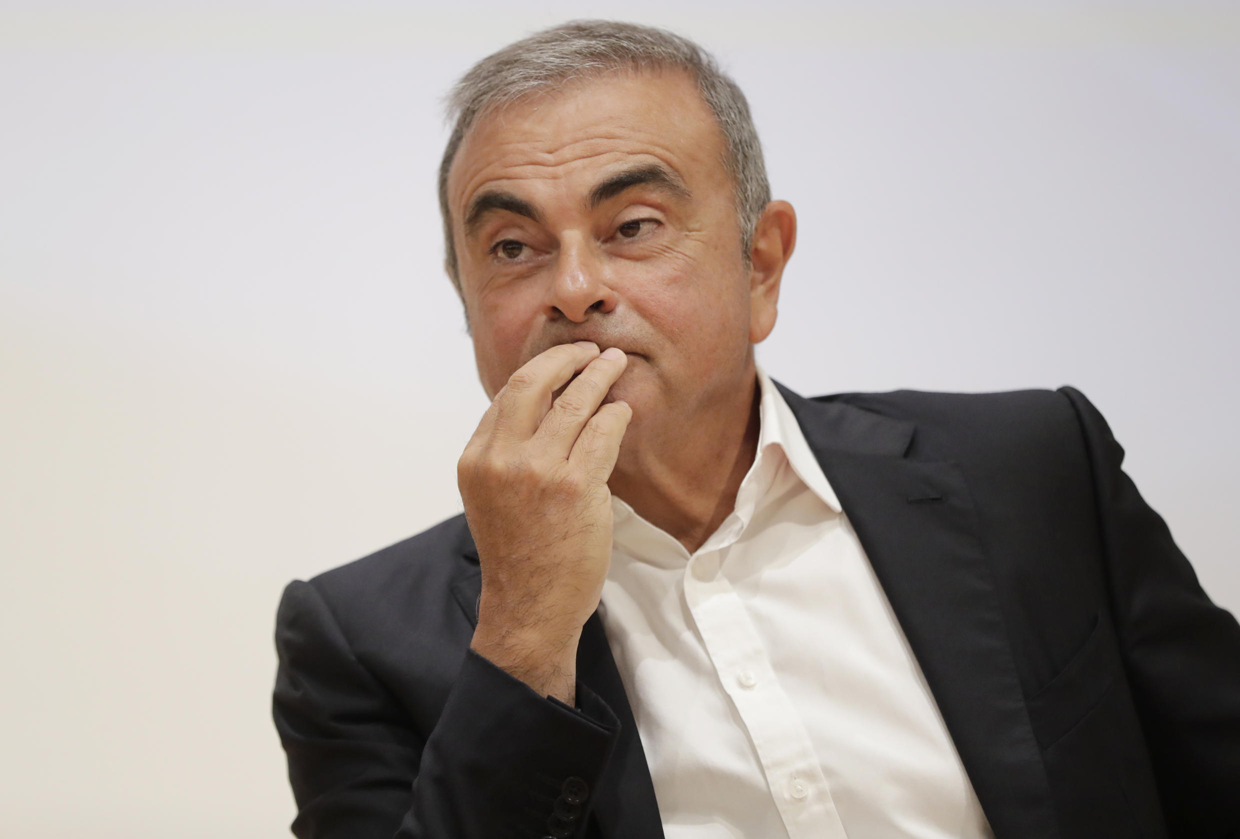 Former Renault-Nissan boss Carlos Ghosn (pictured September 2020) was arrested in November 2018 and had been expected to face trial on charges including understating his pay and misusing company assets