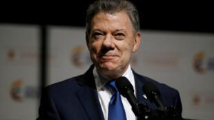 El presidente de Colombia, Juan Manuel Santos, el 14 de marzo de 2017 en Bogotá.