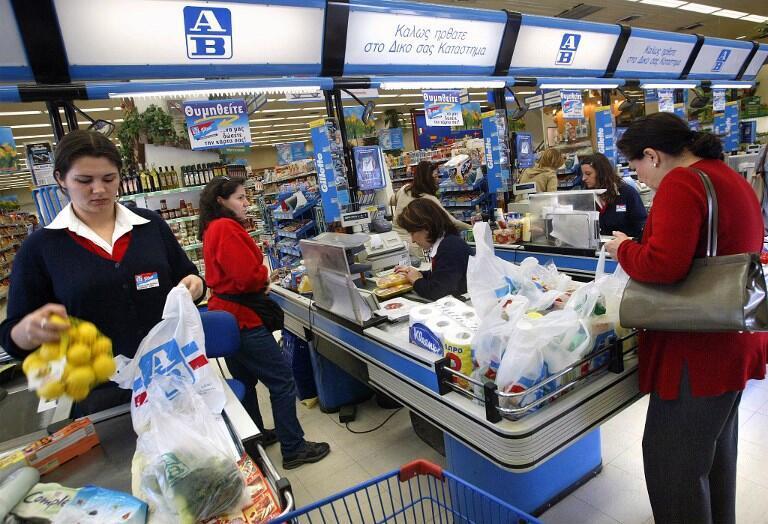 Một siêu thị ở thủ đô Athens. Kinh tế Hy Lạp đã dần phục hồi sau cơn khủng hoảng.
