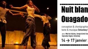 L'affiche de la pièce de théâtre «Nuit blanche à Ouagadougou», qui se joue jusqu'au 17 janvier au théâtre du Tarmac à Paris.