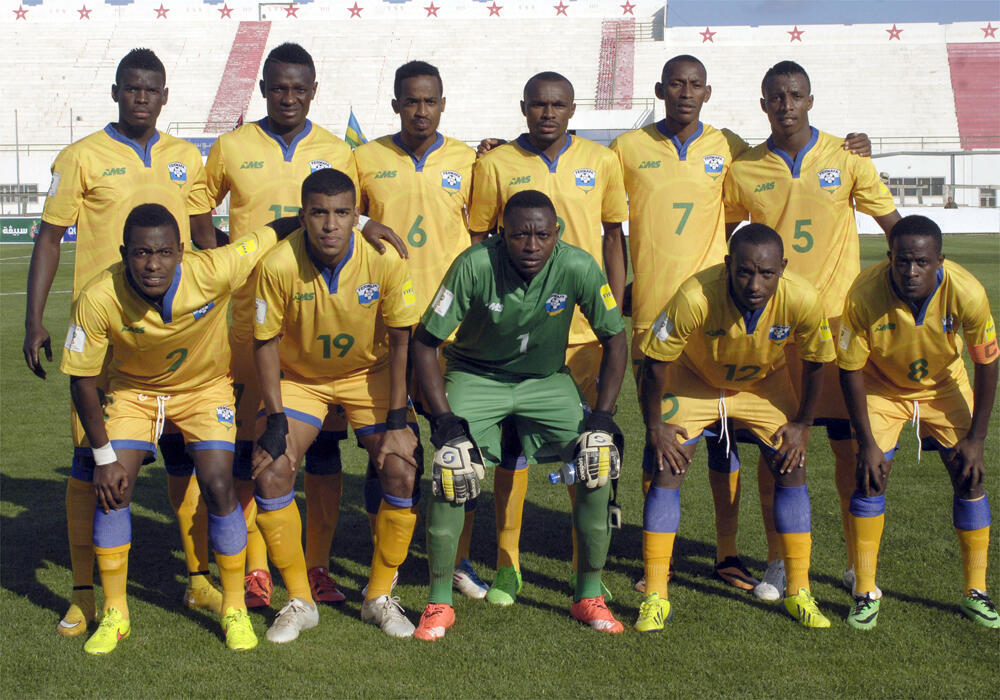 The Rwanda national football team, in November 2015.