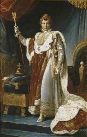 拿破仑善于用巨幅油画宣扬自己的战绩。帝国专职画家(Français Gérard)为他画巨幅画像。