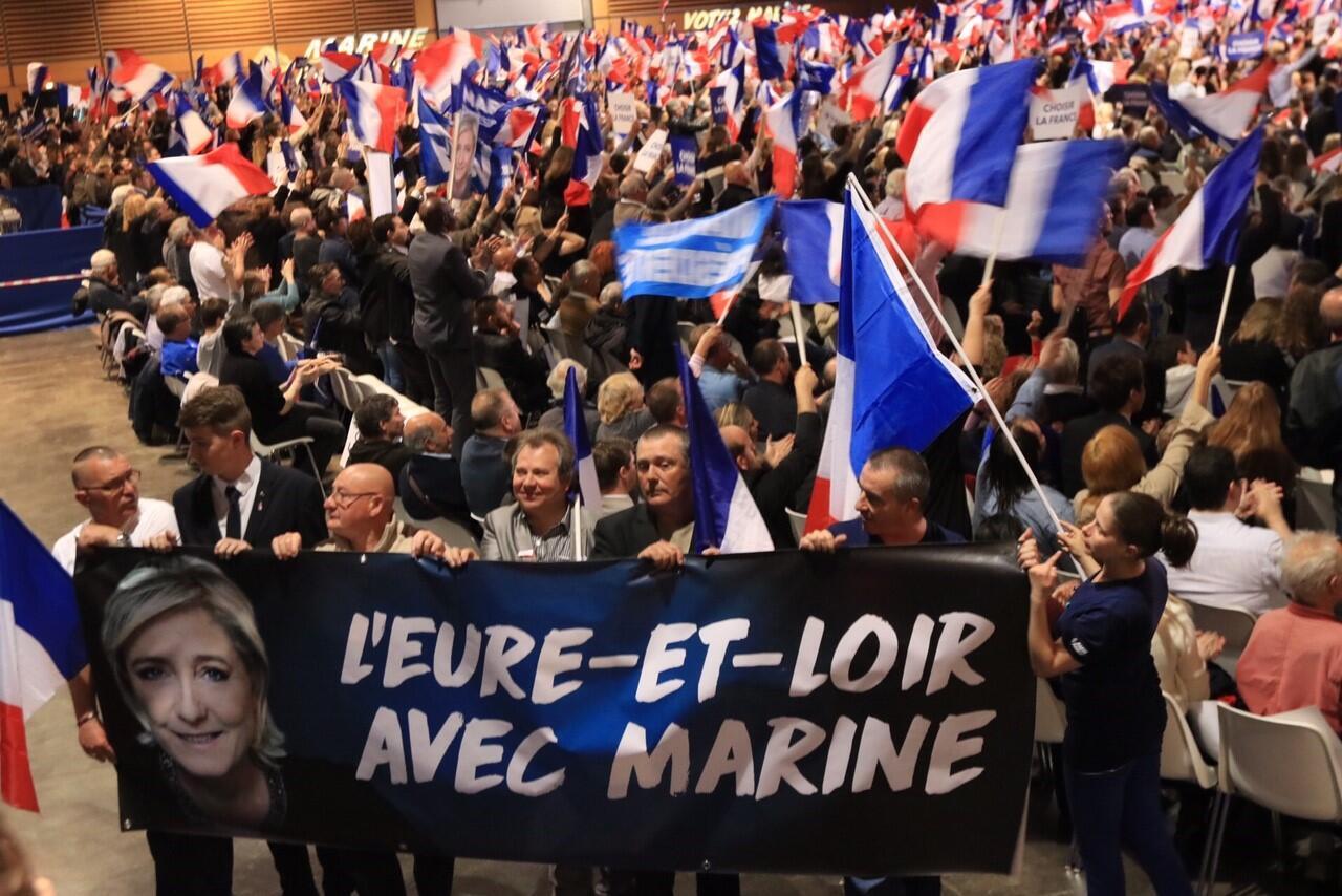 Les soutiens de Marine Le Pen sont venus des différents coins de l'Hexagone.