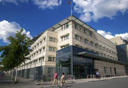 Tòa đại sứ Mỹ tại Berlin. Ảnh chụp ngày 10/07/2014.