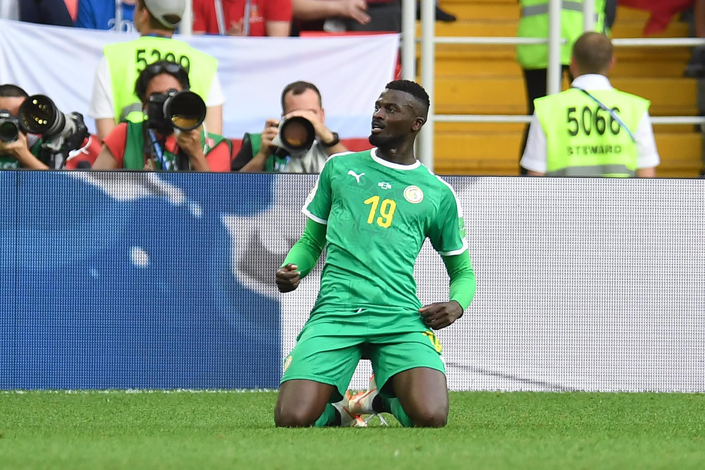 Mbaye Niang, attaquant des Lions du Sénégal.