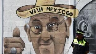 En Ecatepec, cidade onde o Papa Francisco  celebrou a missa.14 de Fevereiro 2016