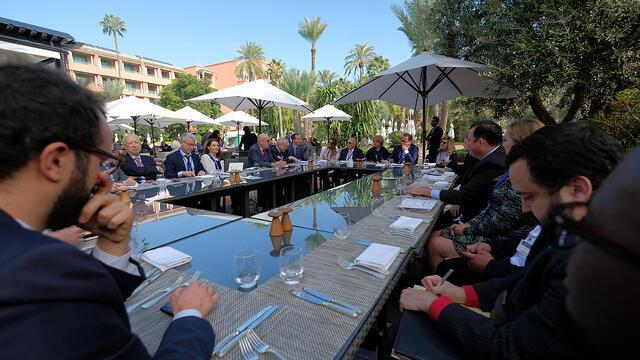 Table ronde «migration et commerce» de la conférence Atlantic Dialogues à Marrakech