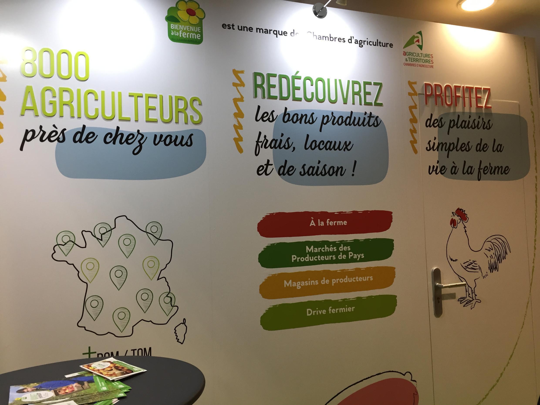 Mạng lưới 8.000 nhà nông thuộc hội Bienvenue à la Ferme. Triển lãm Nông Nghiệp Paris 2018.