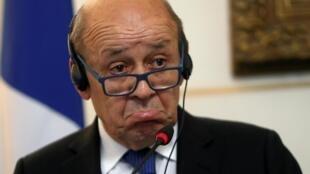 ژان ایو لودریان وزیر خارجۀ فرانسه قبلا وزیر دفاع بوده است
