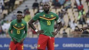 Jacques Zoua lors du match d'ouverture du CHAN 2020 face au Zimbabwe.