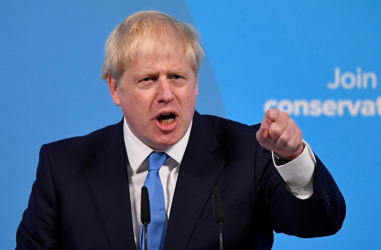Tân thủ tướng Anh Boris Johnson tại trung tâm The Queen Elizabeth II, Luân Đôn, ngày 23/07/2019.